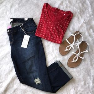 NWT Torrid Boyfriend Crop Jeans ❤️❤️